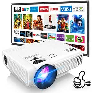 DR. J Professional Projector for Firestick | Video Games | HDMI