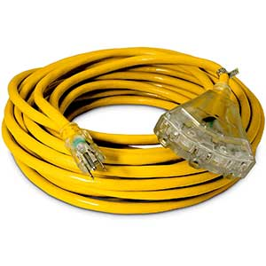 Watt Wire's Cold Weather Extension Cord | Thermoplastic | 50 Ft